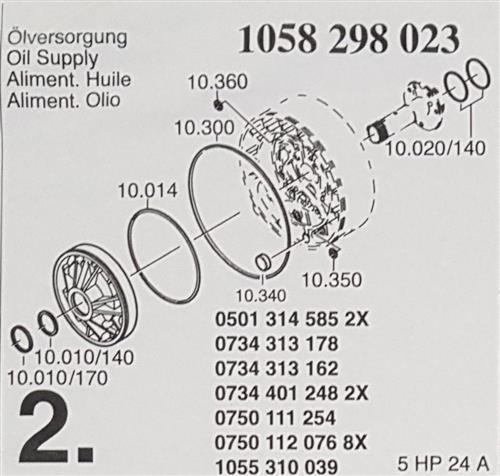 ZF Transmission Round Sealing Ring 0734313178