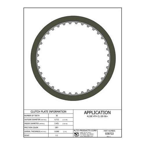 4L30E AR25 AR35 Clutch Plate Friction Lined Plate...